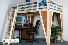 How To Build A Full Size Loft Bed With Desk by Timbernest Loft Beds Quality Loftbeds For Home And College