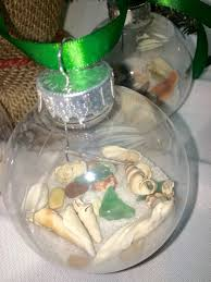 seashell christmas ornaments coastal christmas holiday decor