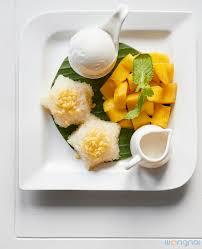 cuisiner la mangue ไอศกร มข าวเหน ยวมะม วง mango sticky rice with coconut