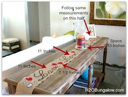 table runner size guide easy valentines day table runner h20bungalow