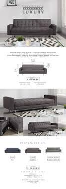 taille canapé 3 places luxury canapé droit convertible 3 places tissu gris contemporain