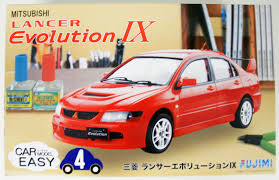 mitsubishi lancer evolution 9 fujimi car easy 04 077031 1 24 scale mitsubishi lancer evolution