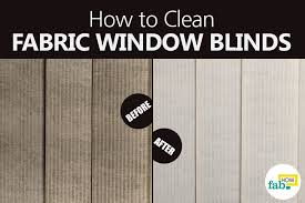 How Do You Clean Vertical Blinds How To Clean Fabric Window Blinds The Easy Way Fab How