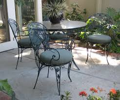 Wrought Iron Patio Dining Set - furniture round black wrought iron tables and chairs having round
