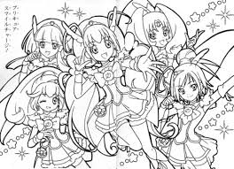 free coloring pages smile anime anime coloring pages
