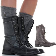 womens combat boots uk womens style army combat worker lace up ankle