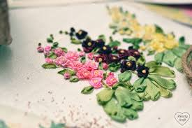 ribbon embroidery flower garden garden party part 3 foxgloves hearty craft
