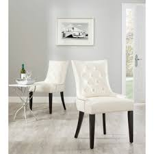 White Leather Dining Room Chairs Overstock Safavieh Marseille Leather Nailhead Dining