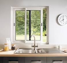 fenetre cuisine coulissante fenêtre coulissante blanche en aluminium haute isolation l 120 x h