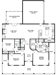 large cabin plans 3 bedroom 2 bath southern style house plan with wrap around porch