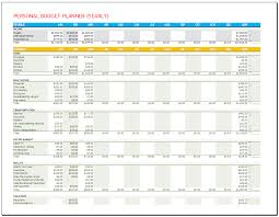 personal budget planner template yearly