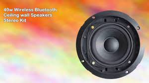 Wireless Speakers In Ceiling by 40w Wireless Bluetooth Ceiling Wall Speakers Stereo Kit Youtube