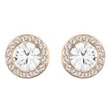 gold stud earrings uk swarovski angelic gold clear stud earrings 5112163