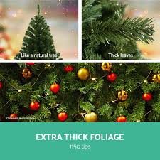 6ft christmas tree 1150 tips 1 8m metal stand xmas trees home
