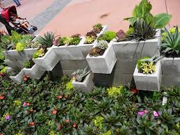 Planter Garden Ideas The Crafty Garden Diy Cement Brick Planters Ideas From