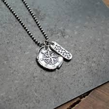 necklace personalized personalized coordinates compass necklace unisex longitude