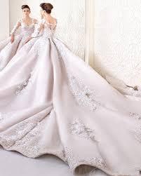 luxury lace ball gown wedding dress 2017 fashion v neck long