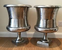 Aluminium Vases Pair Of Stunning Brucs Large Aluminium Vases Urn Planter Rrp