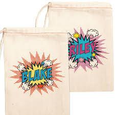 favor bag canvas party favor bags personalized kids party bags