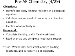 chemistry 4 25 objectives complete chemical quantities exam