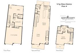 v by shea homes in leucadia floor plan 4 north county new homes