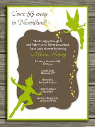 Baby Shower Invitations And Thank You Cards Neverland Baby Shower Invitation Free Thank You Card Included