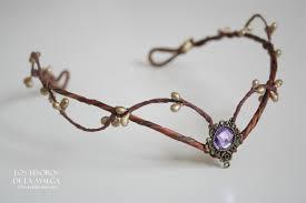 woodland elf tiara elven headpiece fairy crown purple