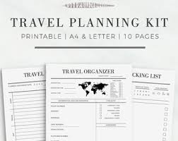 printable vacation journal pages printable route planner printable planner template