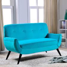 delamaison canapé canapé en coton toucher velours avec pieds bois noir