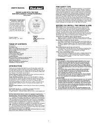 first alert sa340 user manual 6 pages