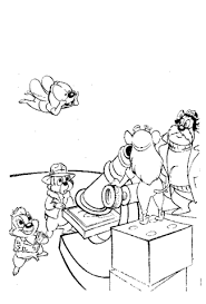 chip and dale team coloring page free printable coloring pages