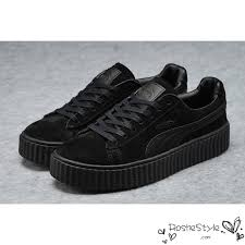 all black casual rihanna x creepers casual shoes suede all black
