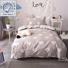 amazon com bulutu girls bedding duvet cover sets twin cotton love