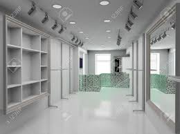 modern design interior of shop 3d render stock photo picture and