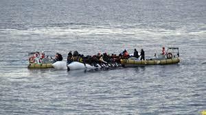 Italienische K Hen Refugees Flüchtlinge In Germany Deutschland Boot