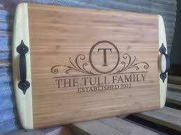 engraved serving tray family serving tray custom laser engraved personalized bamboo