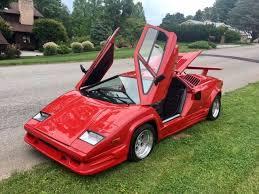 fiero kit car lamborghini no reserve lamborghini countach 25th anniversary v8 replica