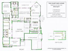 courtyard garage house plans luxury modern house floor plans and courtyard house plan
