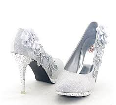 wedding shoes closed toe getmorebeauty women s silver lace flower pearls
