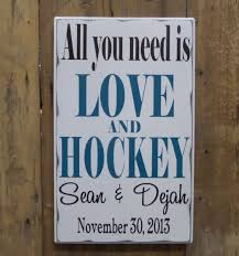 wedding gift jokes all you need is and hockey personalized wedding gift