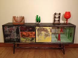 Vintage Cabinet Revamp by Old Retro Veneer Sideboard That We Repaired Stripped And Revamped