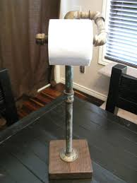 for sale is a unique toilet paper holder it is industrial themed