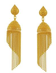 gold erring 22k gold jhumkas 22k gold fancy jhumka earring for meenajewelers