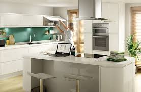b q kitchen ideas cooke lewis appleby high gloss white with integrated handle