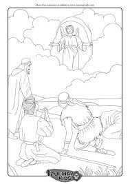 christmas bible coloring pages angels announce the birth of jesus