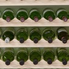 modularack wooden wine rack 8 bottle natural pine wine racks