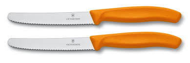 swiss army kitchen knives set of 2 orange table knives victorinox swissclassic
