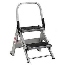 westward step stool aluminum 1 1 2 ft 44yy25 44yy25 grainger