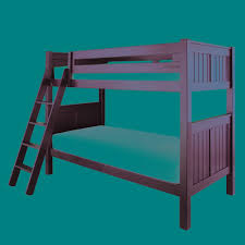 Kids Bedroom Furniture Bunk Beds Bedroom Kids Room Stylish Black Stained Wooden Bunk Bed With
