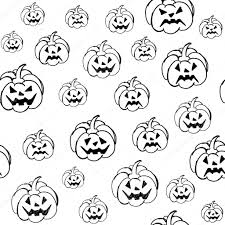 halloween background tiling halloween background with pumpkins vector pattern endless